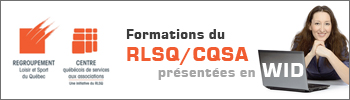 Formations du RLSQ présentées en WID