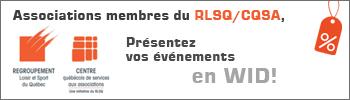 Membres RLSQ, présentez vos événements à distance
